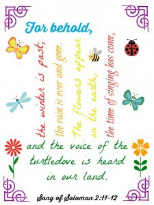 Song of Solomon FREE Spring Printable