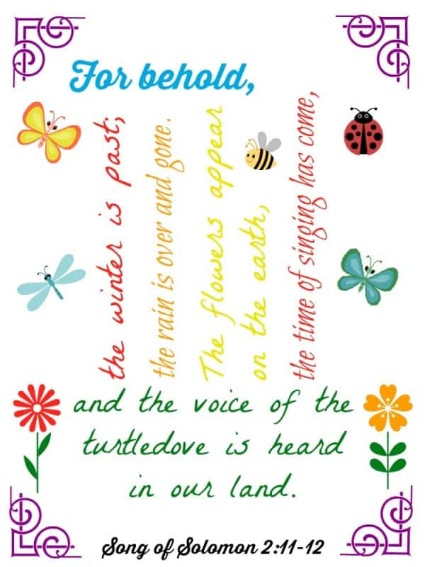 Song of Solomon 2 11-12 Printable