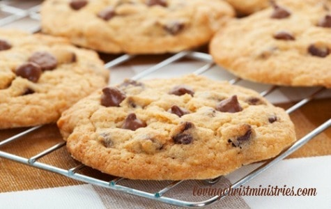image of baked chocolate chip cookies