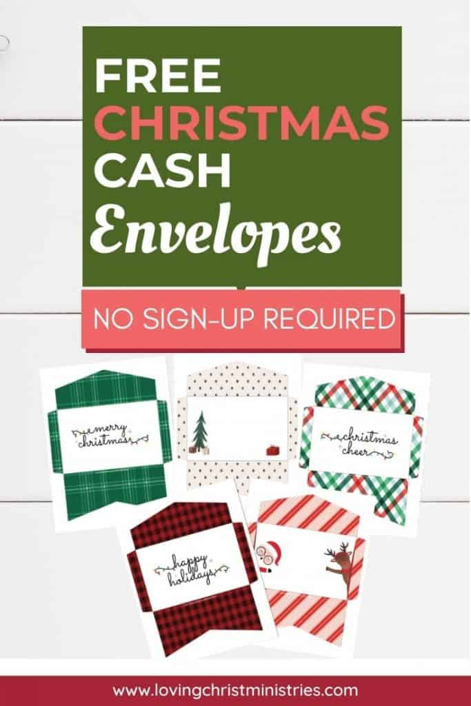 image of Free Christmas Cash Envelopes