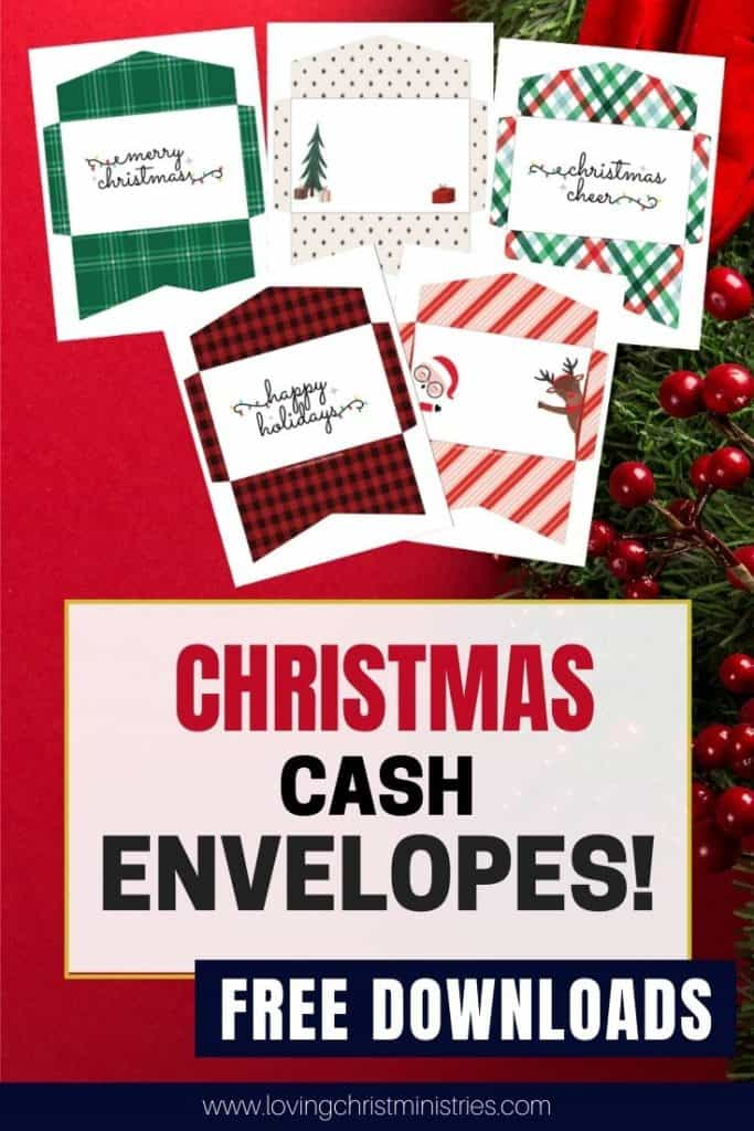 image of Christmas Cash Envelopes