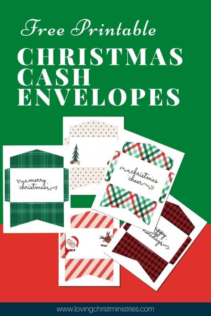 image of Free Printable Christmas Cash Envelopes