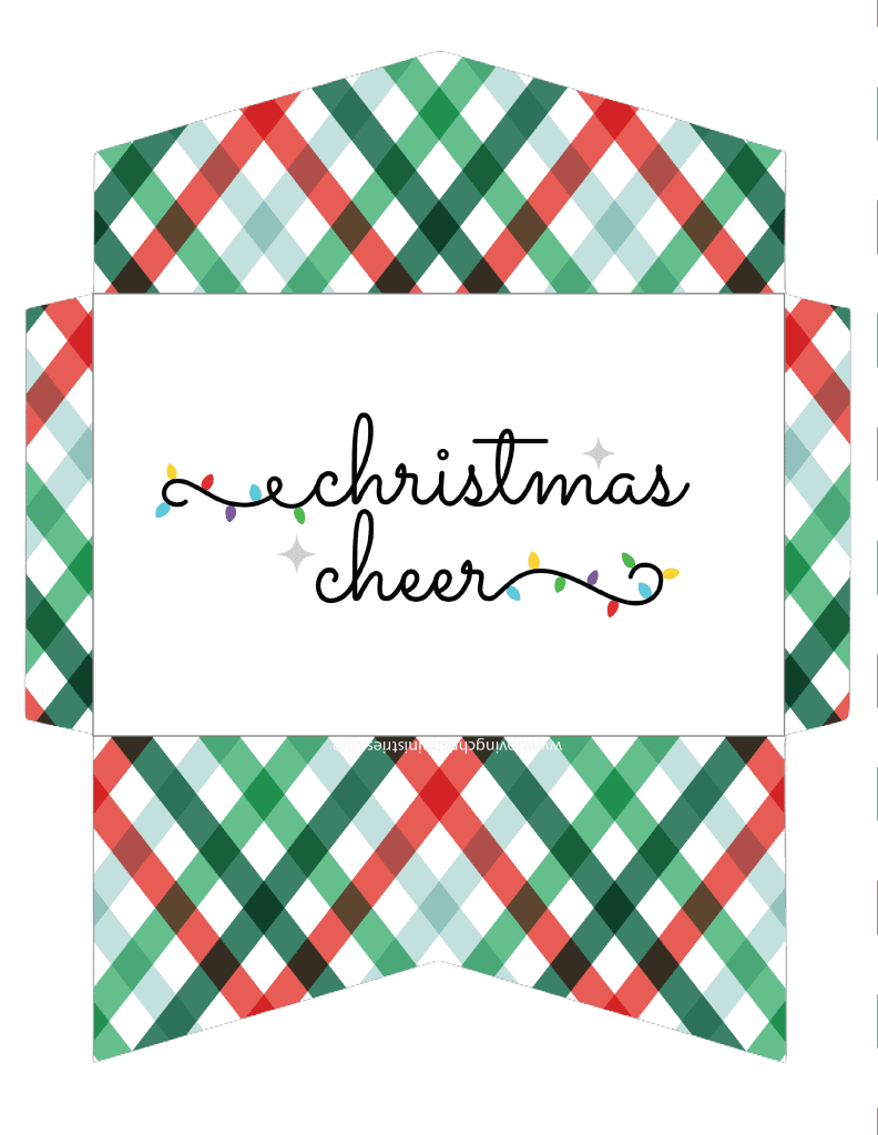 image of Christmas Cheer Christmas cash Envelope