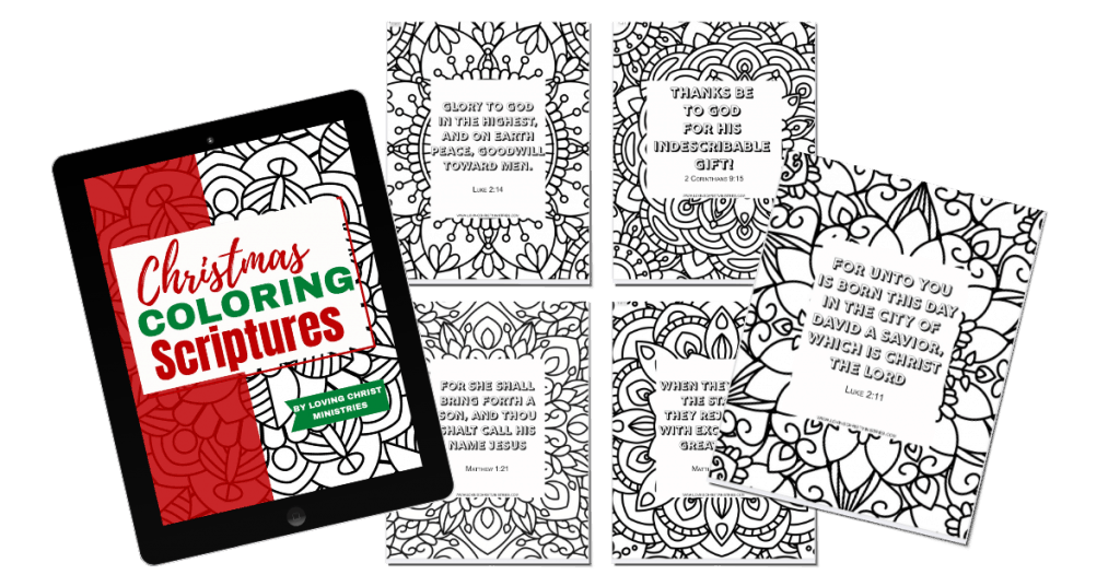 image of Christmas Coloring Scriptures Pages