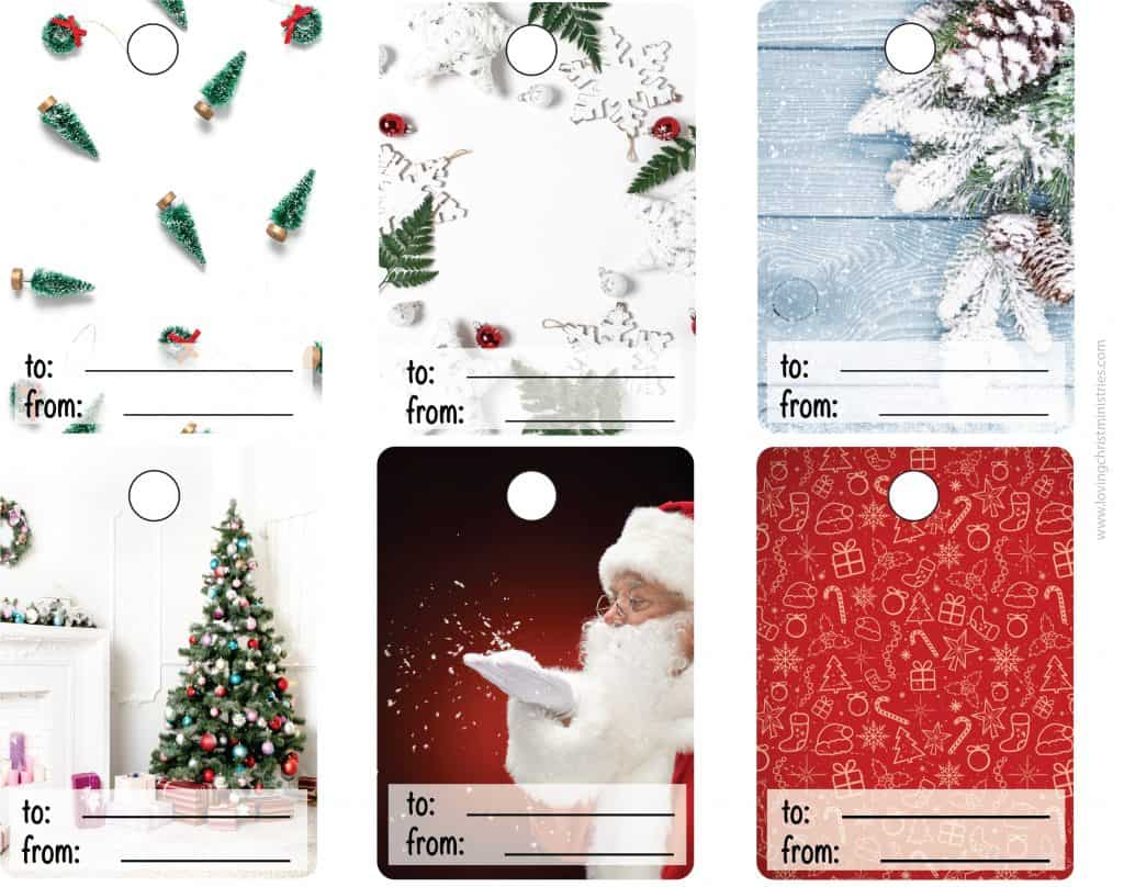 image of Christmas gift tags