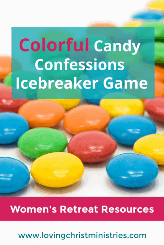 Colorful Candy Confessions Icebreaker Game for Women's Retreats