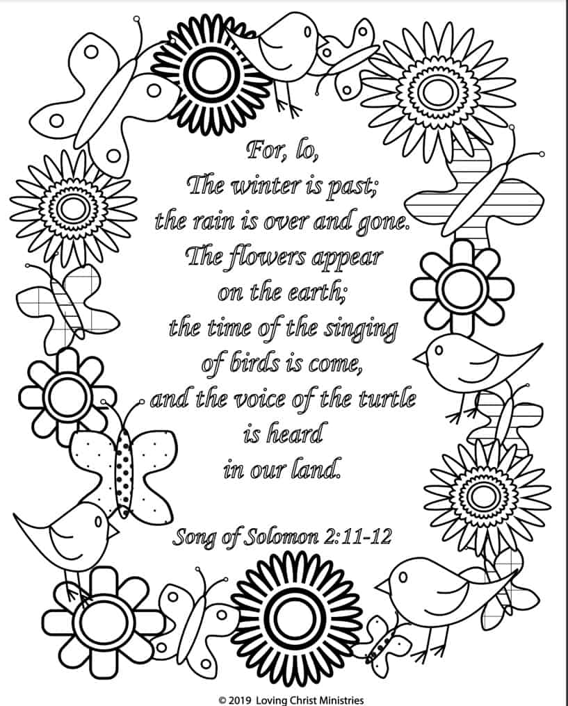 Free Song of Solomon Coloring Page.