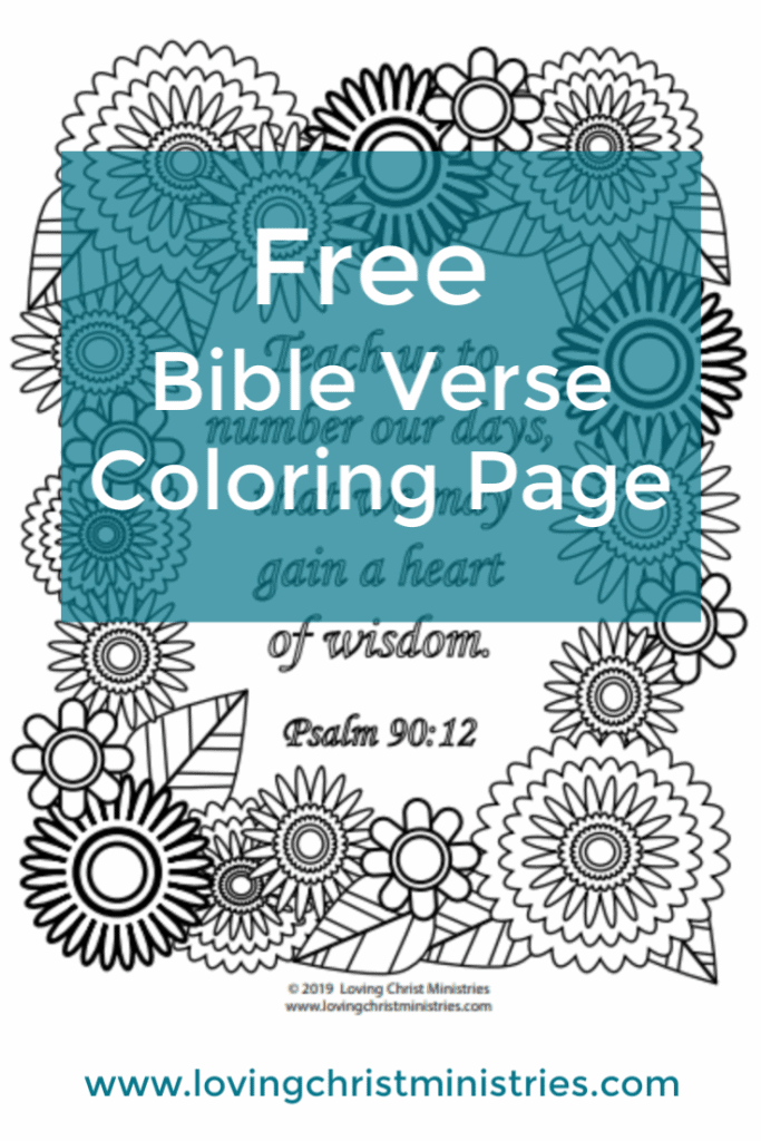 image of Gain a Heart of Wisdom Coloring Page with title text overlay