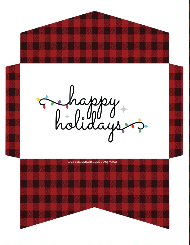 image of Happy Holidays Christmas Cash Envelope