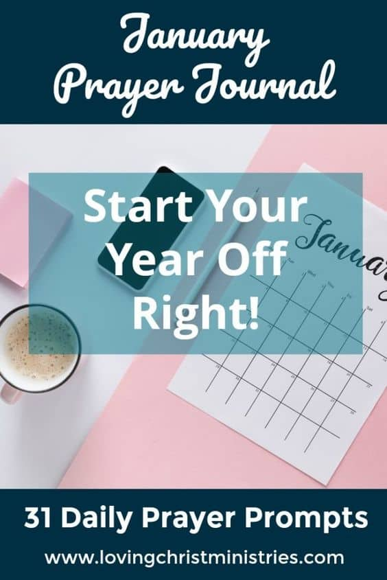 image of January planning page with title text overlay - January Prayer Journal Prompts