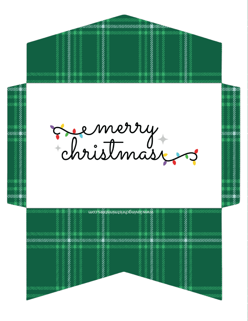 image of Merry Christmas Cash Envelope