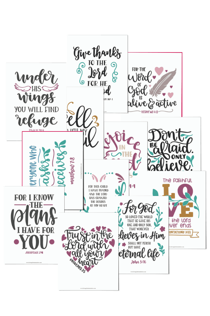 image of Christian Wall Art included in the Scripture Writing Binder