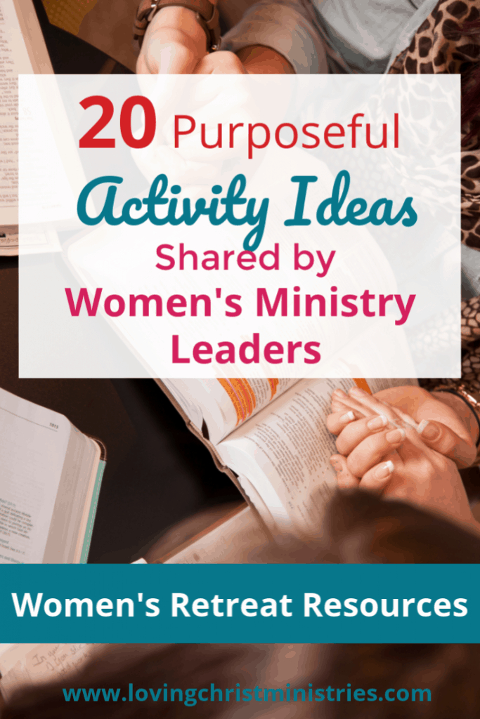 image of women holding hands on Bible with title text overlay - Activity Ideas