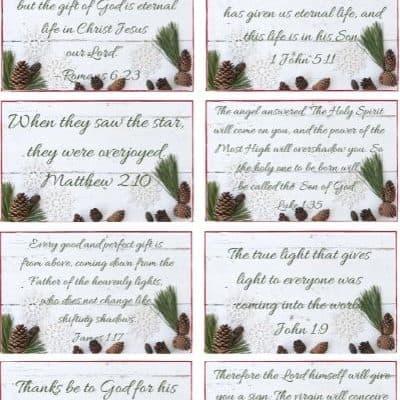 Christmas Scripture Prayer Cards – FREE
