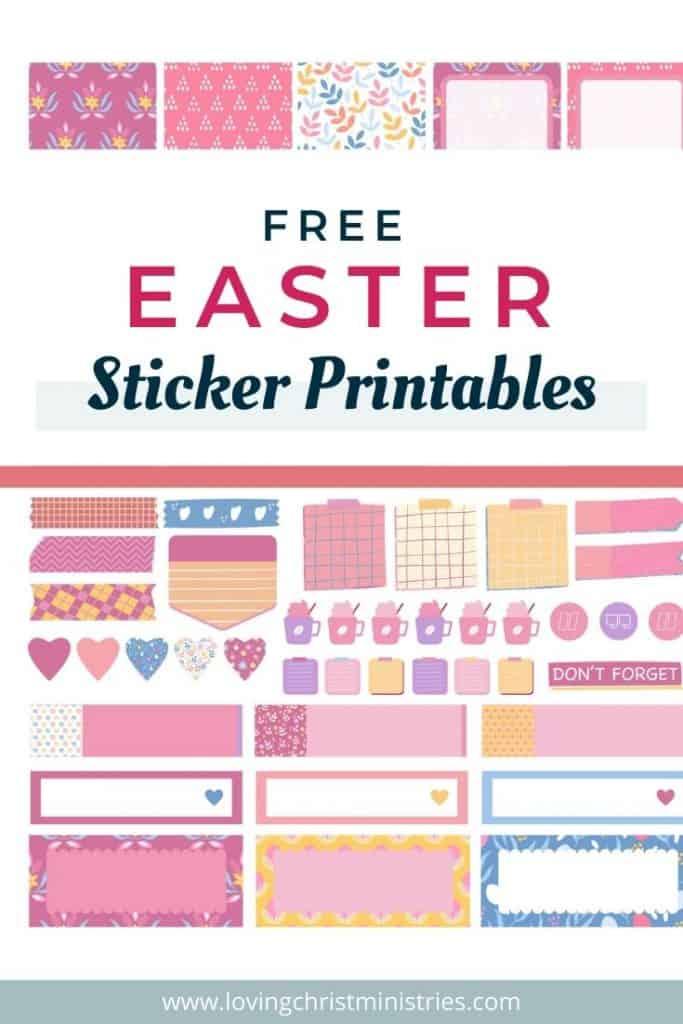 Free Easter Sticker Printables.