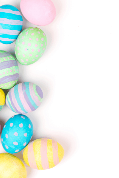 Pastel Easter eggs.