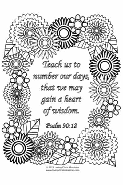 image of Gain a Heart of Wisdom Coloring Page