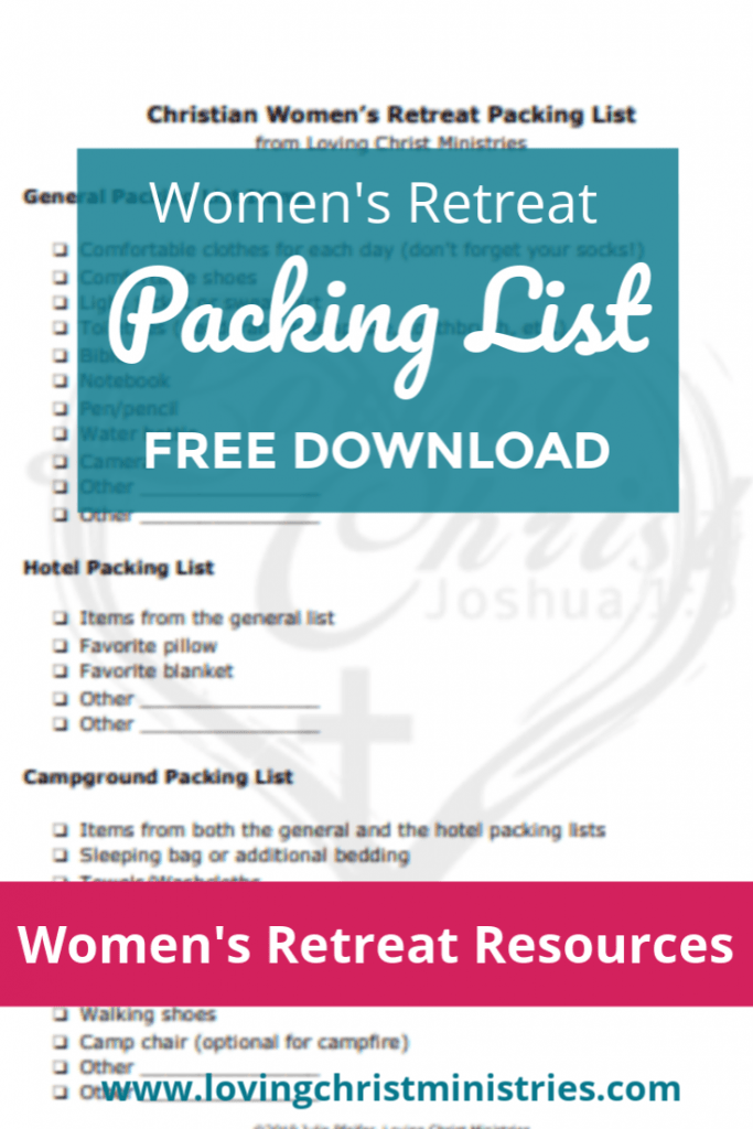 Packing List for Overnight Retreats