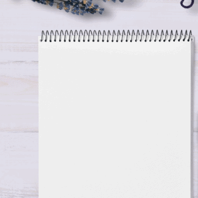 image of spiral notebook with blank page