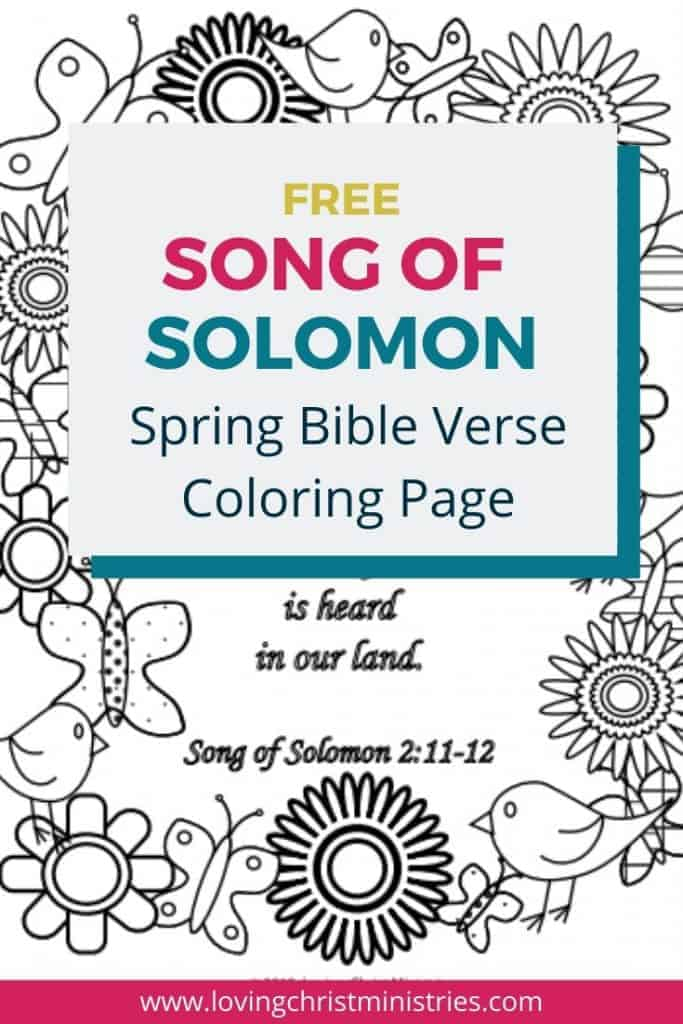 image of Song of Solomon Spring Bible Verse coloring Page